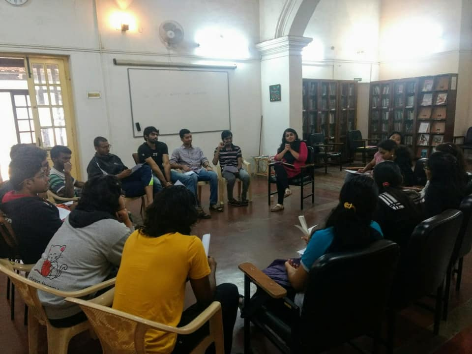 Naomi Menon, Founder, InclusivEd at a workshop in  Indian Institute of Science, Bengaluru